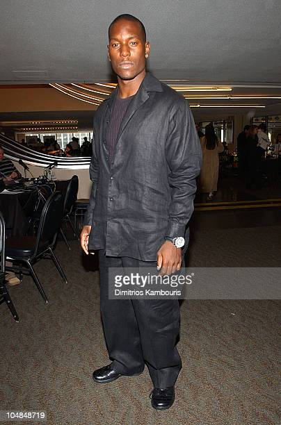 Tyrese during The 45th GRAMMY Awards Radio Room Day One at Madison Square Garden in New York City New York United States