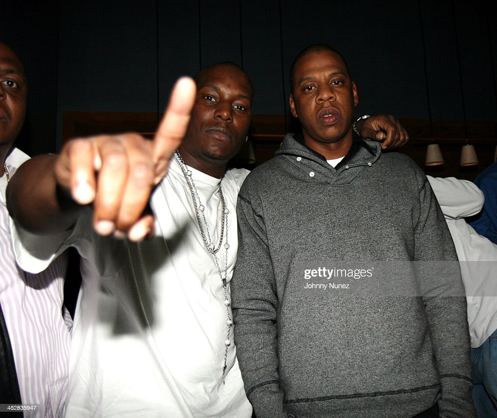 <a gi-track='captionPersonalityLinkClicked' href=/galleries/search?phrase=Tyrese&family=editorial&specificpeople=206177 ng-click='$event.stopPropagation()'>Tyrese</a> Gibson and <a gi-track='captionPersonalityLinkClicked' href=/galleries/search?phrase=Jay-Z&family=editorial&specificpeople=201664 ng-click='$event.stopPropagation()'>Jay-Z</a> during Beanie Sigel's Birthday Party - March 6, 2007 at 40-40 Club in New York City, New York, United States.