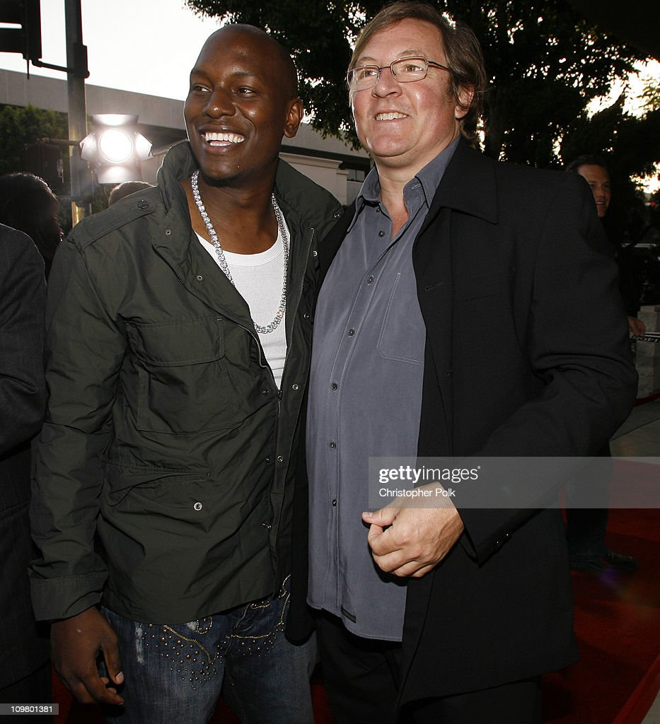 Tyrese Gibson and Lorenzo di Bonaventura during '1408' Los Angeles Premiere Red Carpet at National Theatre in Westwood California United States