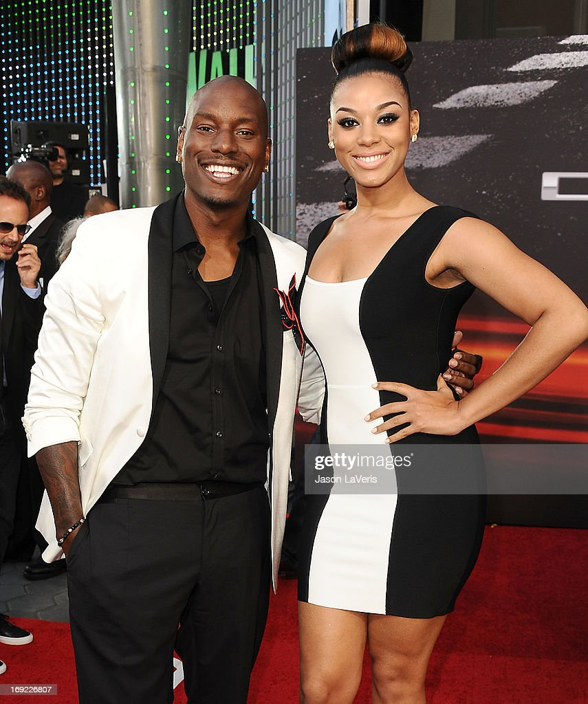 <a gi-track='captionPersonalityLinkClicked' href=/galleries/search?phrase=Tyrese&family=editorial&specificpeople=206177 ng-click='$event.stopPropagation()'>Tyrese</a> Gibson and Lyndriette Kristal Smith attend the premiere of 'Fast & Furious 6' at Universal CityWalk on May 21, 2013 in Universal City, California.
