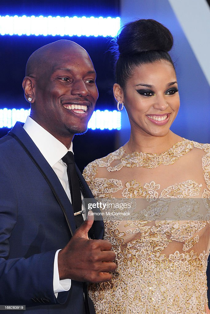 Tyrese Gibson and Lyndriette Kristal Smith attends the World Premiere of 'Fast & Furious 6' at Empire Leicester Square on May 7, 2013 in London, England.