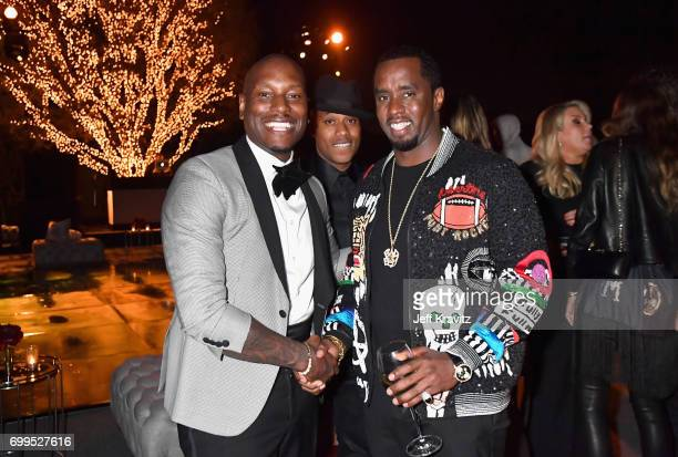 Tyrese Gibson and Mario Winans toast to Sean 'Diddy' Combs and the world premiere of Can't Stop Won't Stop at the official after party powered by...