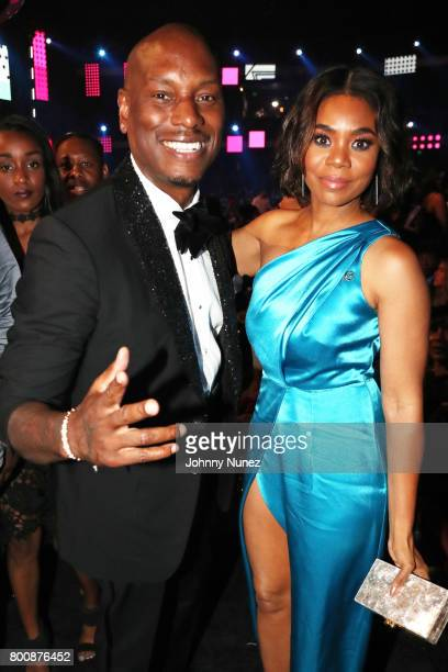 Tyrese Gibson and Regina Hall at 2017 BET Awards at Microsoft Theater on June 25 2017 in Los Angeles California