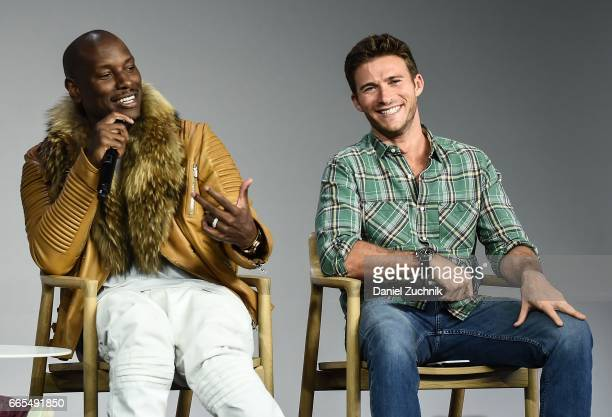 Tyrese Gibson and Scott Eastwood promote the film 'The Fate of the Furious' at Apple Store Soho on April 6 2017 in New York City