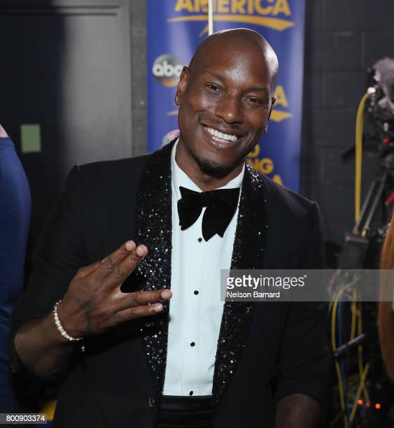 Tyrese Gibson backstage at the 2017 BET Awards at Microsoft Theater on June 25 2017 in Los Angeles California