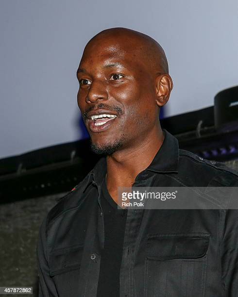 Tyrese Gibson hosts a screening of ANNIE for friends and family on October 25 2014 in Los Angeles California