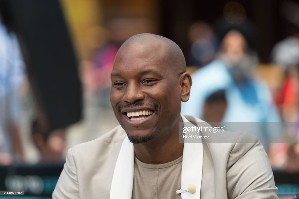 Tyrese Gibson visits 'Extra' at Universal Studios Hollywood on July 14, 2017 in Universal City, California.