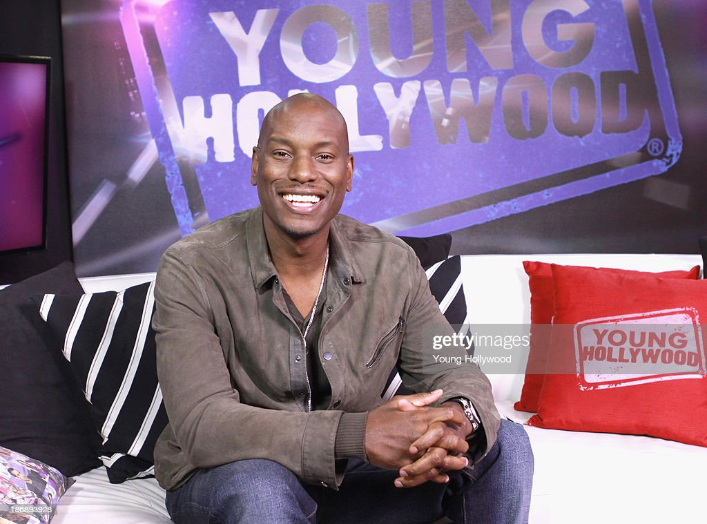 <a gi-track='captionPersonalityLinkClicked' href=/galleries/search?phrase=Tyrese&family=editorial&specificpeople=206177 ng-click='$event.stopPropagation()'>Tyrese</a> Gibson visits the Young Hollywood Studio on November 1, 2013 in Los Angeles, California.