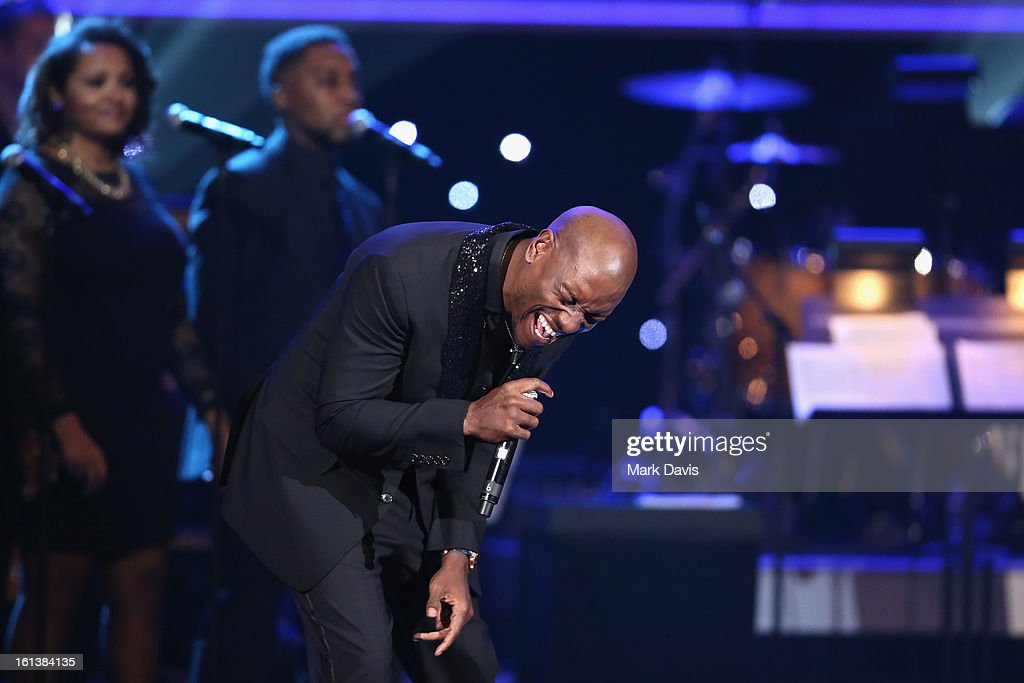 <a gi-track='captionPersonalityLinkClicked' href=/galleries/search?phrase=Tyrese&family=editorial&specificpeople=206177 ng-click='$event.stopPropagation()'>Tyrese</a> performs onstage during the 55th Annual GRAMMY Awards Pre-Telecast at Nokia Theatre L.A. Live on February 10, 2013 in Los Angeles, California.