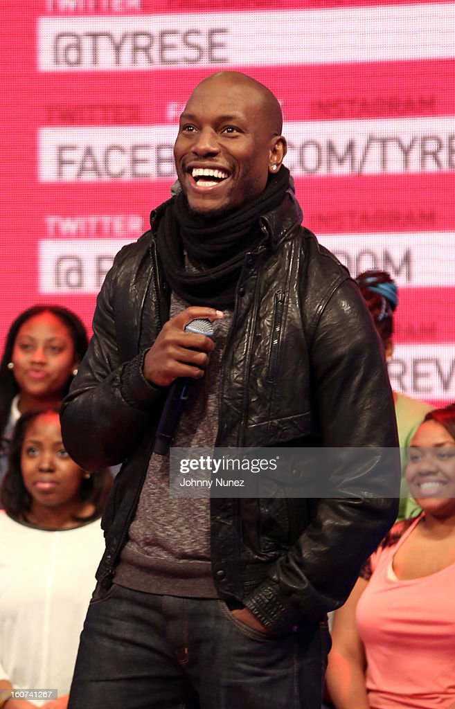 Tyrese visits BET's '106 & Park' at 106 & Park Studio on February 4, 2013 in New York City.