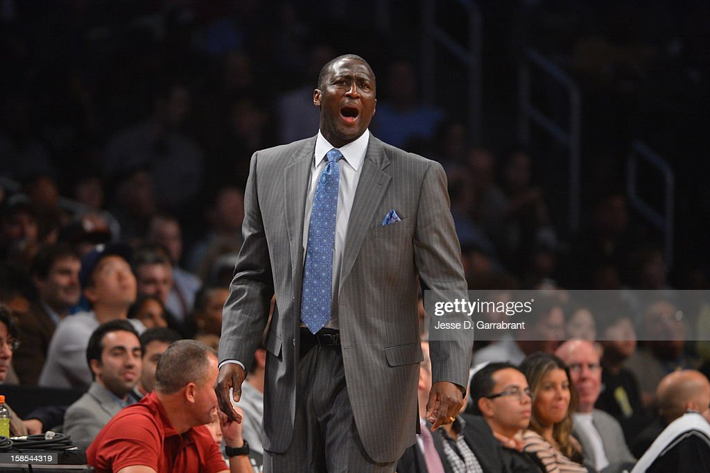 <a gi-track='captionPersonalityLinkClicked' href=/galleries/search?phrase=Tyrone+Corbin&family=editorial&specificpeople=829288 ng-click='$event.stopPropagation()'>Tyrone Corbin</a> Head Coach of the Utah Jazz looks on during the game against the Brooklyn Nets at the Barclays Center on December 18, 2012 in Brooklyn, New York.