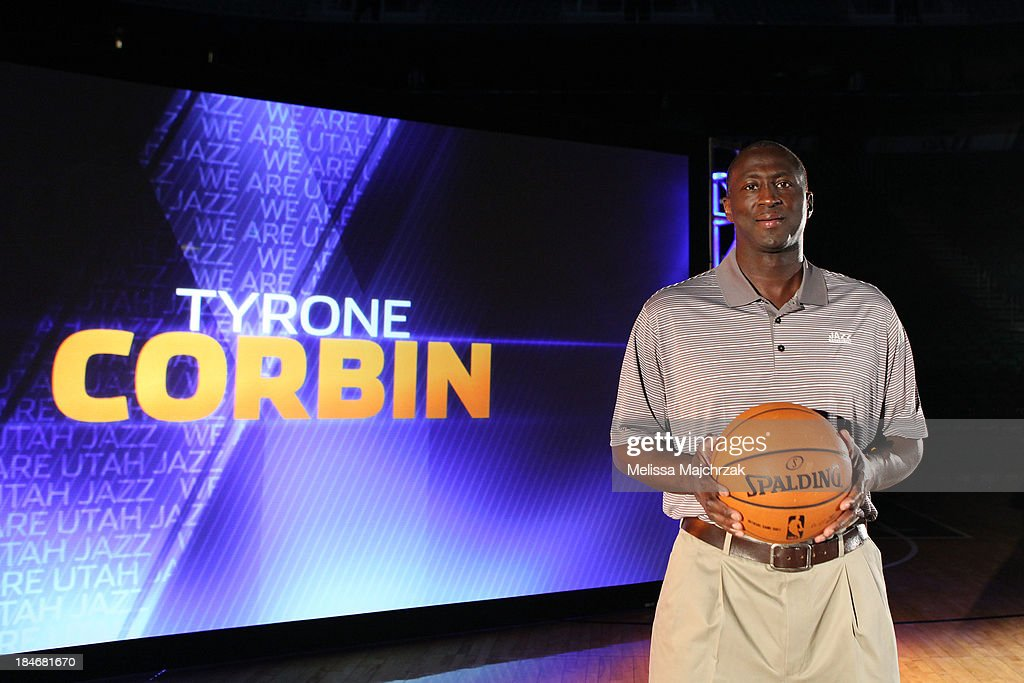 Tyrone Corbin, Head Coach of the Utah Jazz poses for a photo during 2013 Video Media Day at Energy Solutions Arena on October 14, 2013 in Salt Lake City, Utah.