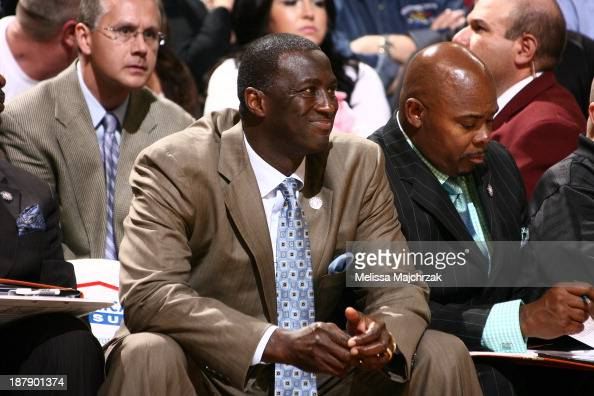Tyrone Corbin Head Coach of the Utah Jazz reacts from the bench during play against the Denver Nuggets at EnergySolutions Arena on November 11 2013...