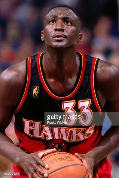 Tyrone Corbin of the Atlanta Hawks shoots against the Sacramento Kings on November 7 1996 at Arco Arena in Sacramento California NOTE TO USER User...