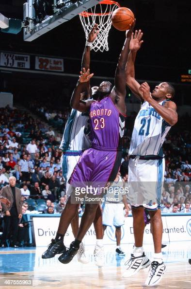 Tyrone Corbin of the Toronto Raptors during the game against the Charlotte Hornets on November 29 2000 at Charlotte Coliseum in Charlotte North...