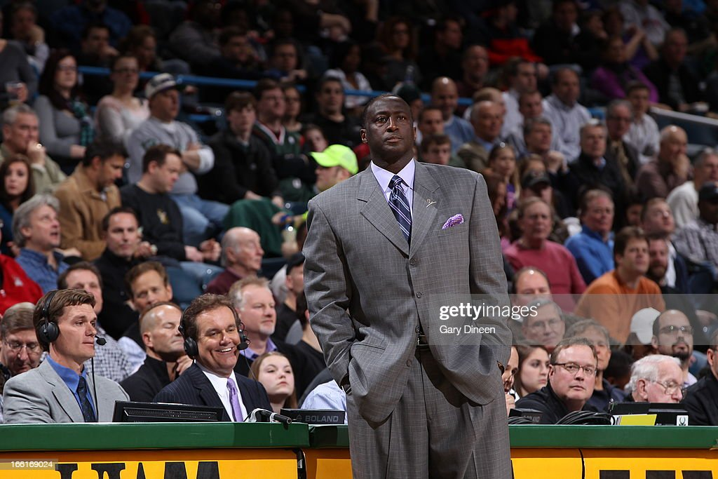 Tyrone Corbin of the Utah Jazz stands on the sideline during the game against the Milwaukee Bucks on March 4, 2013 at the BMO Harris Bradley Center in Milwaukee, Wisconsin.