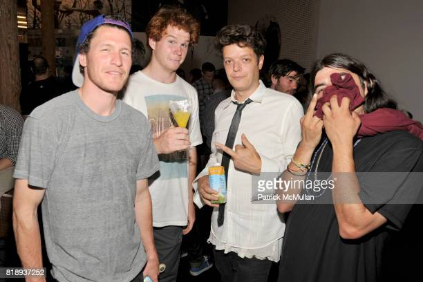 Tyrone Lance Michael and Jose attend NIKE STADIUM NYC Opening at 276 Bowery on May 14 2010 in New York City