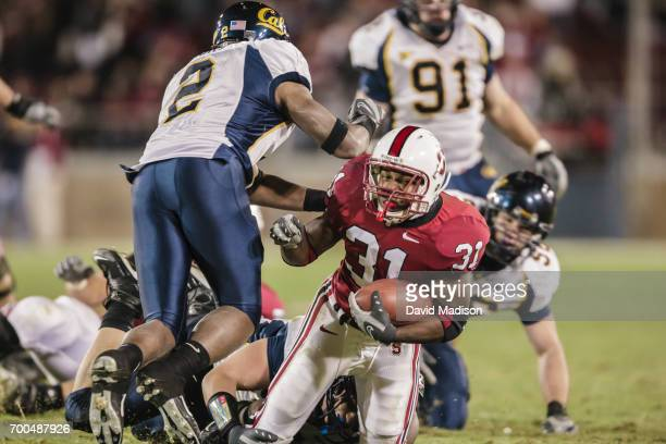 Tyrone McGraw of the Stanford Cardinal plays in the 110th Big Game against the California Golden Bears on December 1 2007 at Stanford Stadium in Palo...