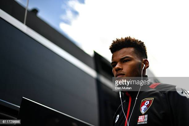 Tyrone Mings of AFC Bournemouth arrives at the stadium prior to kick off during the Premier League match between Watford and AFC Bournemouth at...