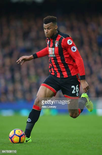 Tyrone Mings of AFC Bournemouth during the Premier League match between Everton and AFC Bournemouth at Goodison Park on February 4 2017 in Liverpool...