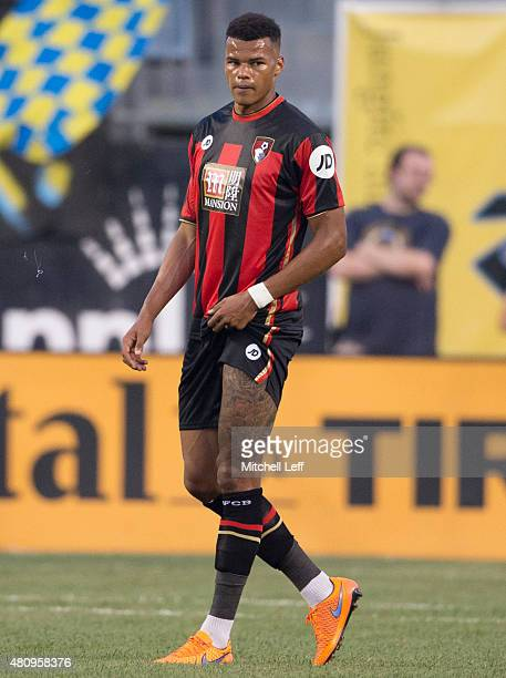 Tyrone Mings of AFC Bournemouth plays in the friendly match against the Philadelphia Union on July 14 2015 at the PPL Park in Chester Pennsylvania