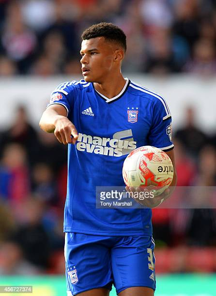 Tyrone Mings of Ipswich Town during the Sky Bet Championship match between Nottingham Forest and Ipswich Town at City Ground on October 5 2014 in...