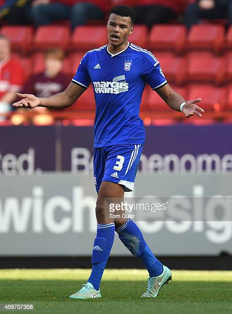 Tyrone Mings of Ipswich Town during the Sky Bet Championship match between Charlton Athletic and Ipswich Town at The Valley on November 29 2014 in...