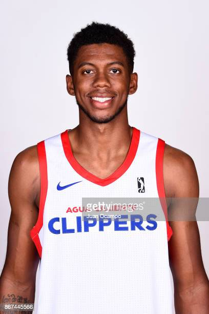 Tyrone Wallace of the Agua Caliente Clippers of Ontario poses for a head shot during media day on October 27 2017 at the Darlene May Gym on the...