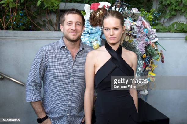 Tyrone Wood and Anna Ewers celebrate World Oceans Day Eve with Project 0 in honor of the La Mer Wave Walk in Support of Project 0 at The James Hotel...