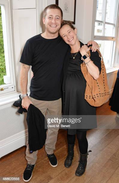 Tyrone Wood and Leah Wood attend the launch of 'The PopUp Gym' written by Jon Denoris at Mortons on May 7 2014 in London England
