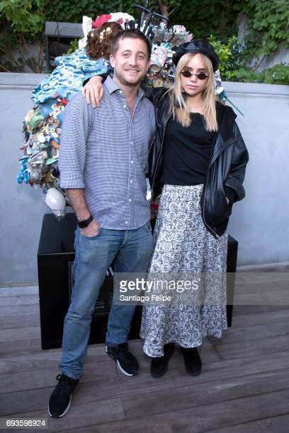 Tyrone Wood and Suki Waterhouse celebrate World Oceans Day Eve with Project 0 in honor of the La Mer Wave Walk in Support of Project 0 at The James...