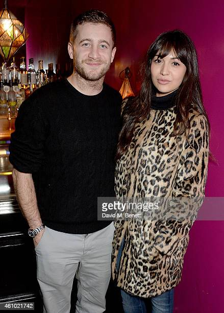 Tyrone Wood and Zara Martin attend a BAFTA Special Screening of Big Eyes hosted by Harvey Weinstein at Soho Hotel on January 4 2015 in London England