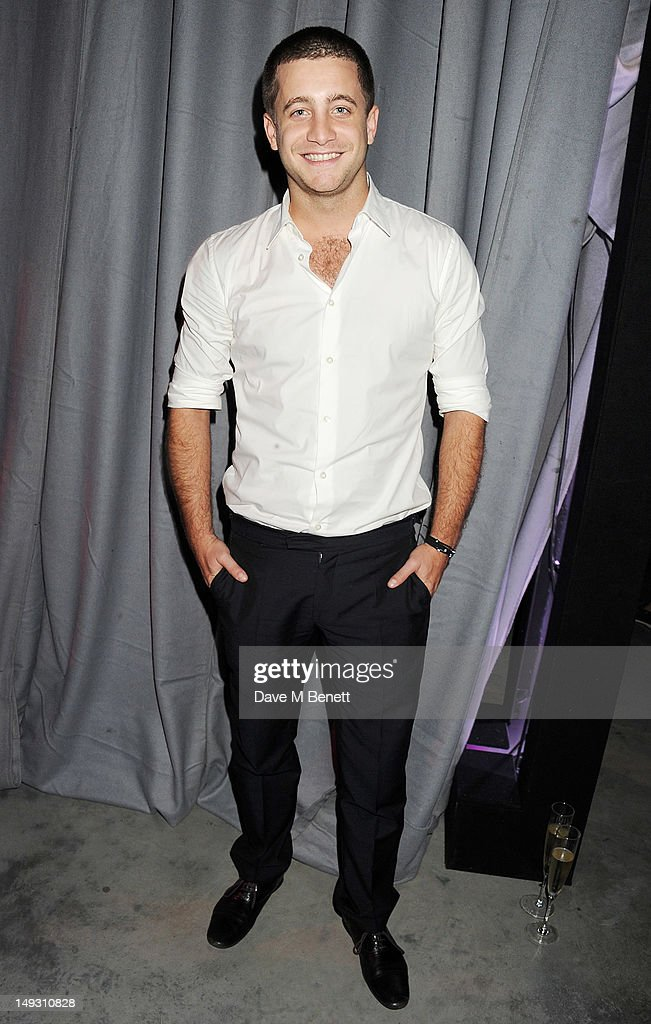 Tyrone Wood arrives at the Warner Music Group Pre-Olympics Party in the Southern Tanks Gallery at the Tate Modern on July 26, 2012 in London, England.