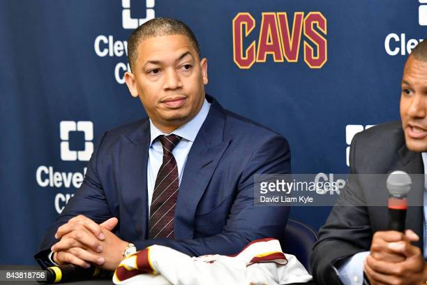 Tyronn Lue of the Cleveland Cavaliers speaks to the media during a press conference at The Cleveland Clinic Courts on September 7 2016 in...