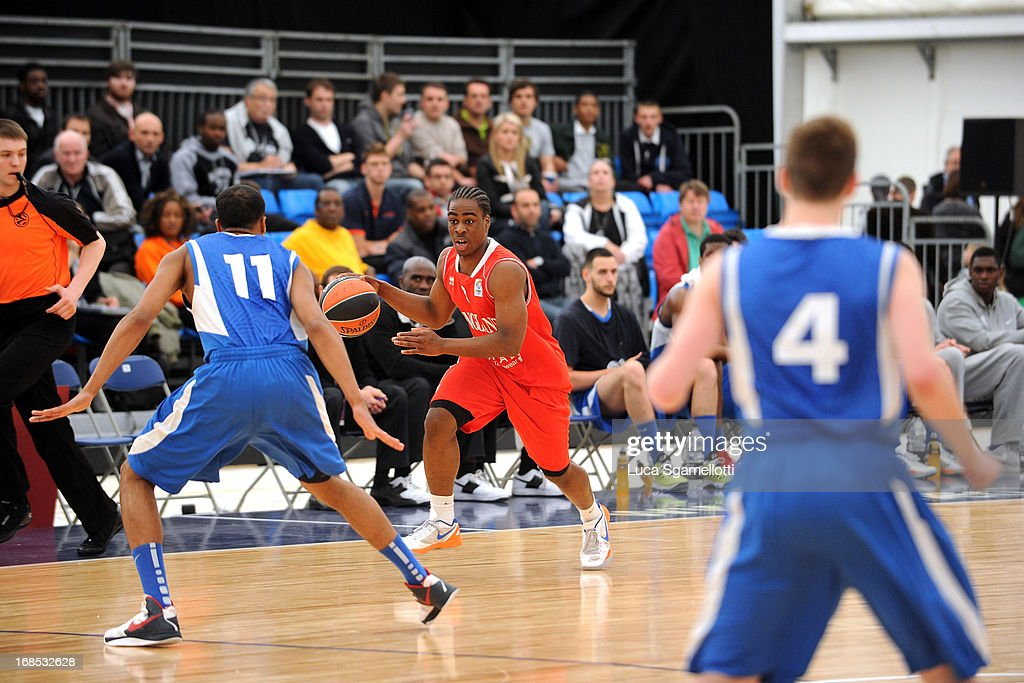 Tyrrel Isaacs, #8 of Team England in action during the Nike International Junior Tournament game between INSEP Paris v Team England at London Soccerdome on May 10, 2013 in London, United Kingdom.