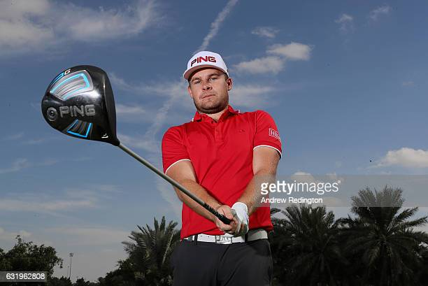 Tyrrell Hatton of England poses for a portrait during the Pro Am event prior to the start of the Abu Dhabi HSBC Golf Championship at Abu Dhabi Golf...