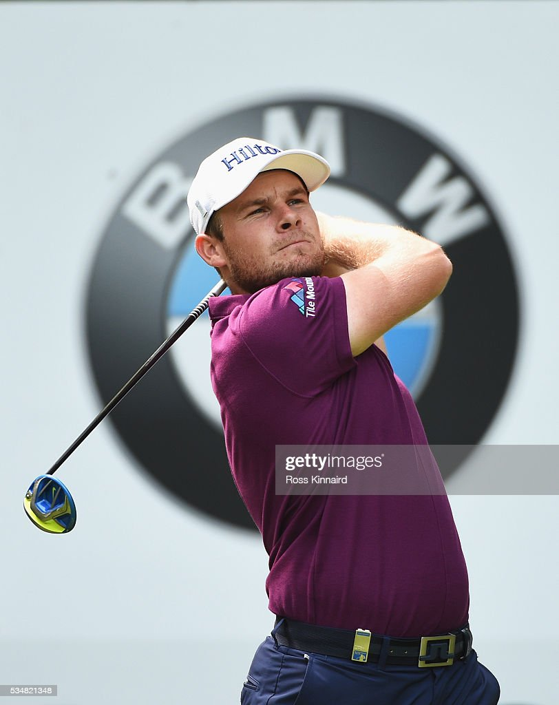 <a gi-track='captionPersonalityLinkClicked' href=/galleries/search?phrase=Tyrrell+Hatton&family=editorial&specificpeople=7104399 ng-click='$event.stopPropagation()'>Tyrrell Hatton</a> of England tees off on the 16th hole during day three of the BMW PGA Championship at Wentworth on May 28, 2016 in Virginia Water, England.