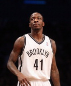 Tyshawn Taylor dribbles the ball against the Portland Trail Blazers at the Barclays Center on November 25 2012 in the Brooklyn borough of New York...