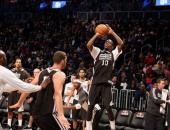Tyshawn Taylor of the Brooklyn Nets during an Open Practice at the Barclays Center on October 20 2013 in the Brooklyn borough of New York City NOTE...