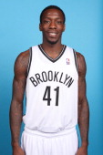 Tyshawn Taylor of the Brooklyn Nets poses for a portrait at Media Day on October 1 2012 at Barclays Center in Brooklyn Borough of New York New York...
