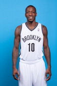 Tyshawn Taylor of the Brooklyn Nets poses for a portrait during Media Day on September 30 2013 at Barclay's Center in Brooklyn Borough of New York...
