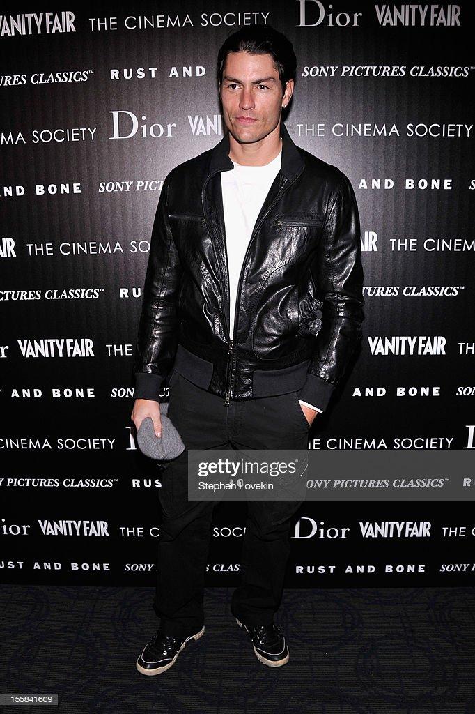 Tyson Ballou attends The Cinema Society with Dior & Vanity Fair screening of 'Rust And Bone' at Landmark Sunshine Cinema on November 8, 2012 in New York City.