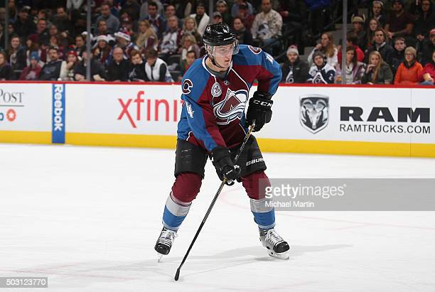 Tyson Barrie of the Colorado Avalanche skates against the Arizona Coyotes at the Pepsi Center on December 27 2015 in Denver Colorado
