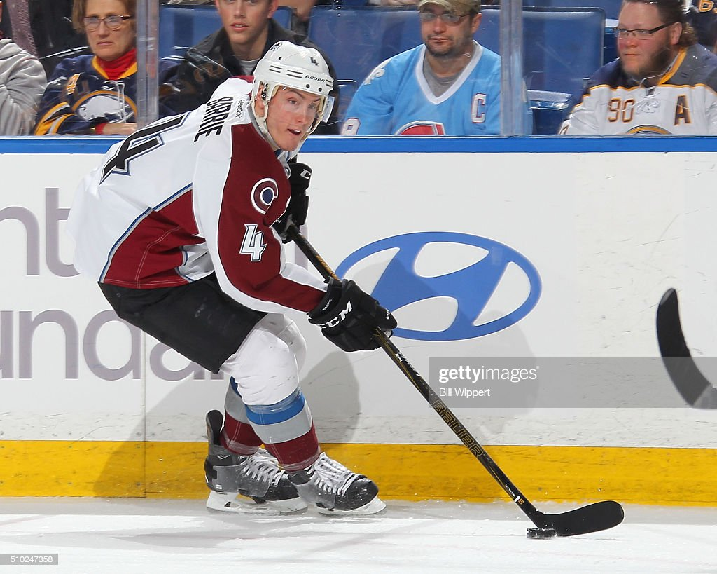 <a gi-track='captionPersonalityLinkClicked' href=/galleries/search?phrase=Tyson+Barrie&family=editorial&specificpeople=4669265 ng-click='$event.stopPropagation()'>Tyson Barrie</a> #4 of the Colorado Avalanche skates against the Buffalo Sabres during an NHL game on February 14, 2016 at the First Niagara Center in Buffalo, New York.