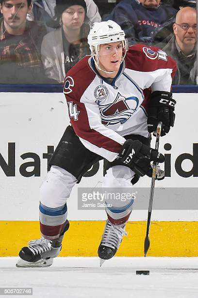 Tyson Barrie of the Colorado Avalanche skates against the Columbus Blue Jackets on January 16 2016 at Nationwide Arena in Columbus Ohio