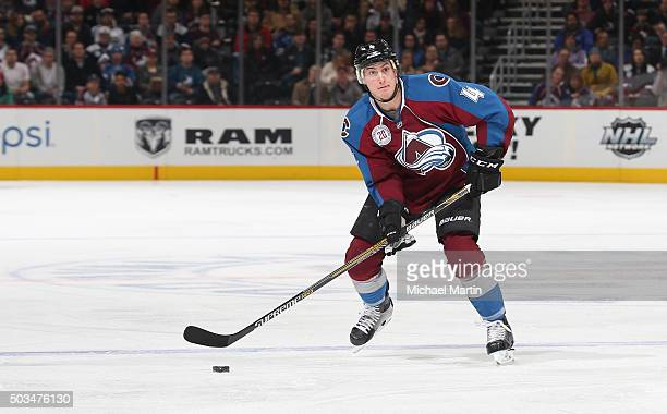 Tyson Barrie of the Colorado Avalanche skates against the Los Angeles Kings at the Pepsi Center on January 4 2016 in Denver Colorado The Avalanche...