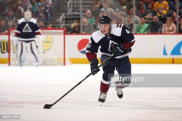 Tyson Barrie of the Colorado Avalanche skates against the Los Angeles Kings at the Pepsi Center on February 21 2017 in Denver Colorado The Kings...