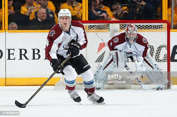 Tyson Barrie of the Colorado Avalanche skates against the Nashville Predators during an NHL game at Bridgestone Arena on April 5 2016 in Nashville...