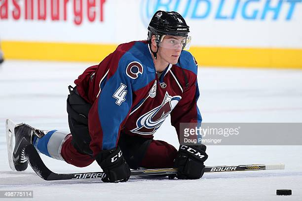 Tyson Barrie of the Colorado Avalanche warms up prior to facing the Ottawa Senators at Pepsi Center on November 25 2015 in Denver Colorado
