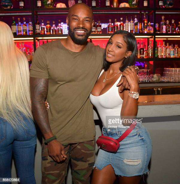 Tyson Beckford and Bernice Burgos attend Baller Alert's Bowl With a Baller at Basement Bowl on October 5 2017 in Miami Florida